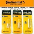 Continental Presta Valve Extension Pair 20/ 30/ 40/ 60mm RVC Tube Extender