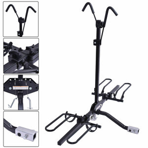 2 Bike Carrier Platform Hitch Rack Bicycle Rider Mount Sport Fold Receiver 2