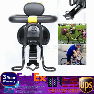 Front Mounted Child Bicycle Seat with Foot Pedal Portable Kids' Safety Bike Seat