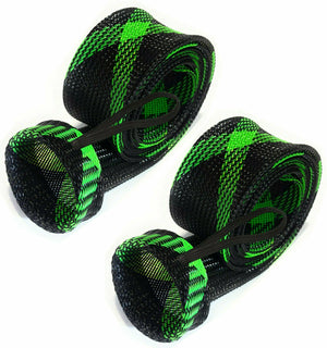 Reaction Tackle Fishing Rod Cover/ Rod Sleeve/ Rod Sock (2-Pack) Black-Green