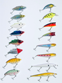 Set of 16 Nuthin Fancy Outdoors Bass FishingTrout Walleye Pike Bait Lures