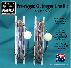 Outrigger Line Kit -  Pre-rigged (2 Line Set, Two-30 ft lines)