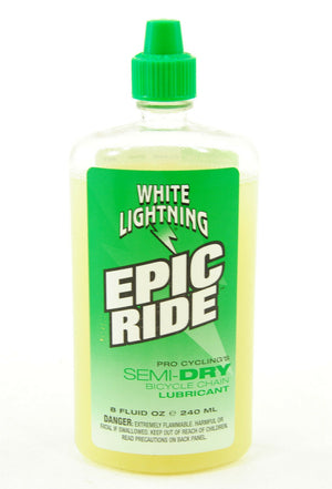 White Lightning Epic Ride Green Bicycle Chain Lube 8 oz Lubricant