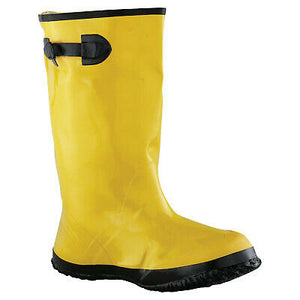 Slush Boots, Size 12, 17 in H, Natural Rubber Latex/Calcium Carbonate, Yellow