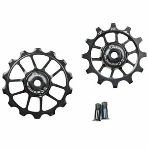 OMNI Racer WORLDS LIGHTEST OVERSIZE Ti Ceramic Derailleur Pulleys: SRAM 11 Speed
