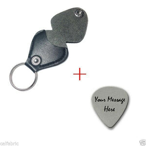 Free Engraved Steel Guitar Pick Plus Leather Keychain Style Guitar Picks holder