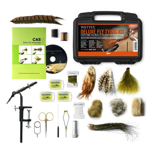 WETFLY Deluxe Fly Tying Kit with Book and Dvd. This Is Our Most Popular Fly T...