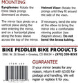 Original Bike Peddler Take a Look Bike Helmet Eyeglass Visor Mirror Full Length