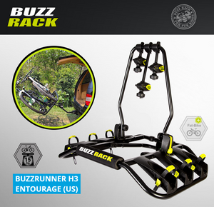 BUZZ RACK Entourage 3-Bike Platform Hitch Rack -  BUZZRUNNER H3