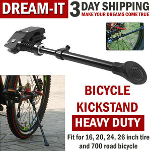 Bike Kickstand MTB Road Mountain Side Bicycle Kick Stand Adjustable Metal Kids