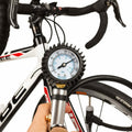 CycloSpirit Bicycle Tire Inflator Gauge for Presta and Schrader Air Compressors