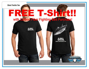 Fishing Fighting Belt System-Carbon Fiber with FREE T-SHIRT