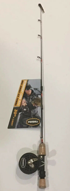 NEW FRABILL 6855 STRAIGHT LINE 241 BRO SERIES ICE FISHING COMBO 30