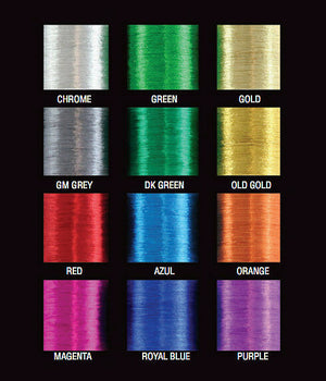 50% Off PacBay Metallic Rod Building Thread - 3000 Yds - Pick Size/Color