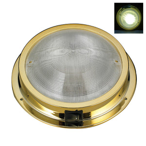 # Marine Boat RV LED Ceiling /Cabin/Dome White Light Gold Plated PC Waterproof