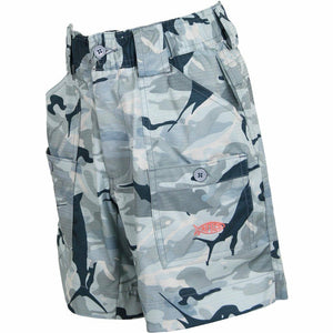 AFTCO Youth Boys Camo BE2 Original Fishing Shorts--Pick Color/Size-Free Shipping