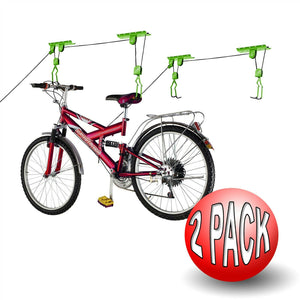 Bike Lane Bicycle Storage Lift Bike Hoist 100 LB Capacity Heavy Duty 2 Pack