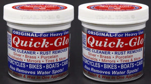 2-Pack Quick-Glo Original Chrome Cleaner Rust Remover 8oz Tubs for Bikes Cars