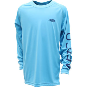 AFTCO Youth Samurai Sun Protection UPF 50 Boys Fishing Shirt-6 Colors -Free Ship