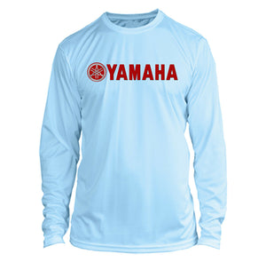 Yamaha Long Sleeve Microfiber UPF Fishing Shirt Arctic Blue