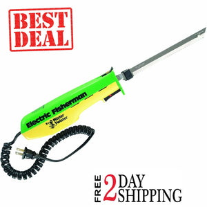 Mister Twister 120V Electric Fisherman Fillet Knife Blades Green/Yellow
