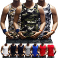 Men Tank Top Muscle T-Shirt Camo Sleeveless A-Shirt Cotton  Sports Hipster GYM