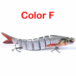 12PCS Minnow Fishing Lures Baits Freshwater Crank Bass Lot Tiddler Bait 15cm 19g