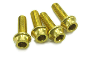 OMNI Racer WORLDS LIGHTEST Alloy Bottle Cage Bolts Set: M5x15mm 4.8g 4 GOLD