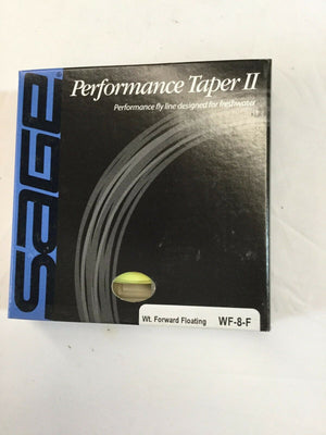 SAGE PERFORMANCE TAPER II WF8F FLY LINE *NEW IN BOX*