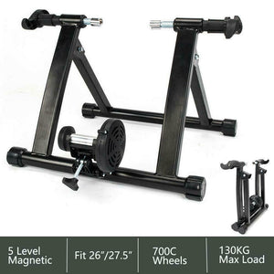 5 Level Solid Heavy Bike Trainer Magnetic Reluctance Stand Exercise Stationary