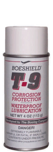 Boeshield T9 4oz Aerosol Bicycle Chain Lube Lubricant and Rust Inhibitor