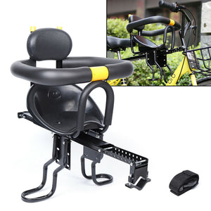 Bicycle Baby Kid Seat Kids Child Safety Carrier Front Seat Saddle+Food Pedals US