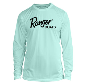 Ranger Boats Long Sleeve Microfiber UPF Fishing Shirt Seafoam Green