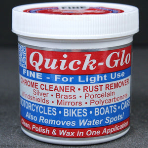 Quick-Glo FINE Light-Use Chrome Cleaner Rust Remover Polish Bike Car Boat 8oz