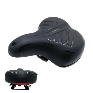 Comfort Wide Big Bum Bike Bicycle Gel Soft Pad Saddle Seat W/ Reflector