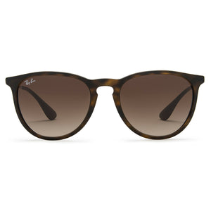 Ray-Ban Erika Classic Sunglasses 54mm Tortoise Brown and Gunmetal Gray Frame