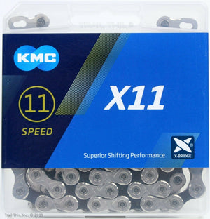 KMC X11 11-Speed Stretch-Proof Bike Chain 118L X11.93 fits Campy SRAM Shimano