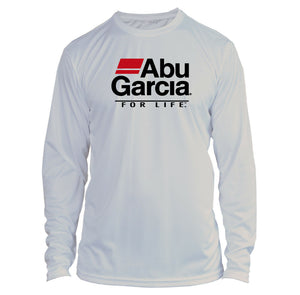 Abu Garcia Long Sleeve Microfiber UPF Fishing Shirt Light Gray