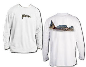 Microfiber Long Sleeve UPF 50 Redfish Fishing Tailing Redfish T-Shirt