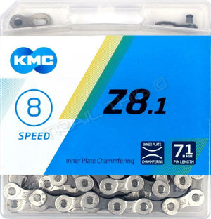 KMC Z8.1 6/7/8 (18/21/24)-Speed Bike Chain 116L Road/MTB fits Z72 Shimano SRAM