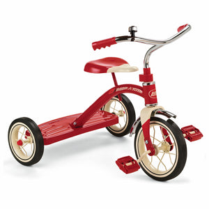 Radio Flyer Classic 10 Inch Toddler Tricycle with Rubber Tires and Steel Frame