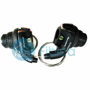New Shimano SIS SL-RS35 Revoshift Twist Shifter 3x6-speed Right+Left shift set