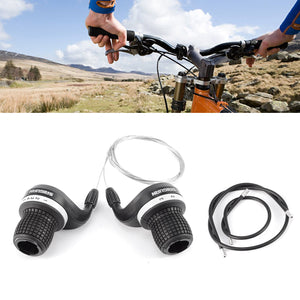 Gripshift Shifters (6/7/8 speed) Mountain Bike Twist Grips Gears + Inner Cable