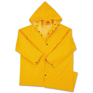 Anchor Products Polyester Raincoat, 0.35 Mm Pvc/Polyester, Yellow, 48 In, Medium