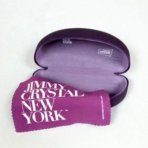 Jimmy Crystal Sunglasses Case with Microfiber Cloth Purple Color