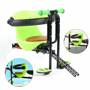 Bicycle Front Safe Seat Front Mount Baby Carrier Seat & Pedal for Child Baby Kid