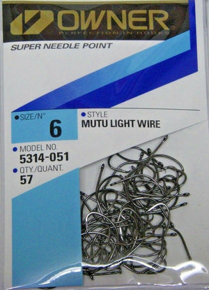 OWNER MUTU LIGHT WIRE CIRCLE HOOKS SALTWATER PRO PACKS ALL SIZES 5314 ALL SIZES