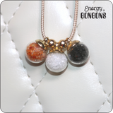 Carnelian | Clear Quartz | Obsidian - Raw Natural Crushed Gemstones Pendant Necklace for Women