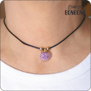 Amethyst Choker Necklace - Energy Bonbons