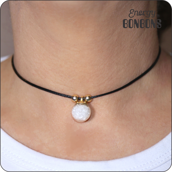 Clear Quartz Gemstone Choker Necklace - Energy Bonbons